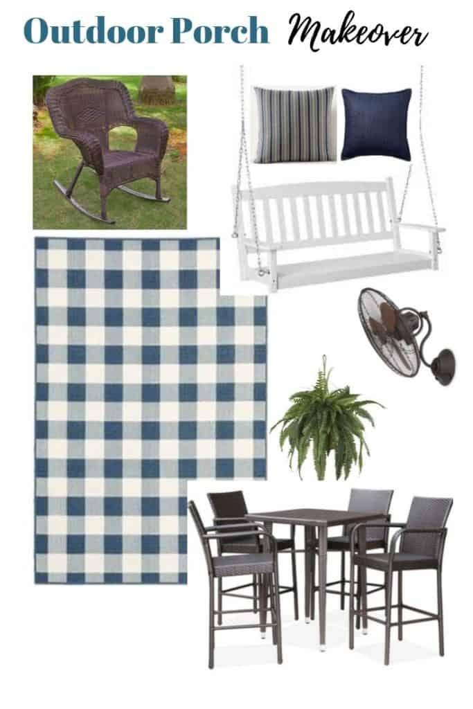 cottage style back porch design board