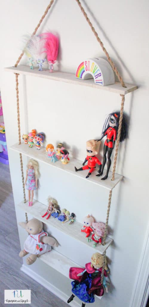 how to make a rope shelf