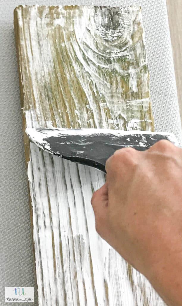 DIY Weathered Barn Wood technique