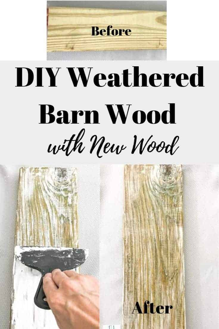 How to create the Weathered Barn wood look on new wood