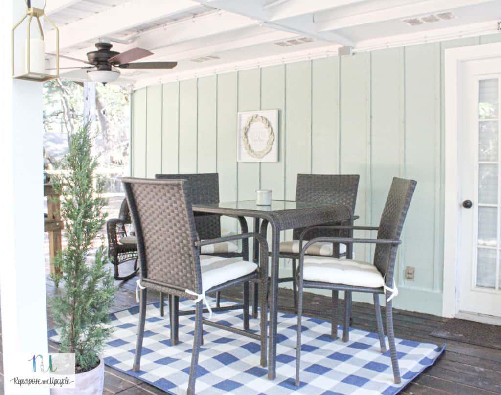 Cottage Style Back Porch Makeover