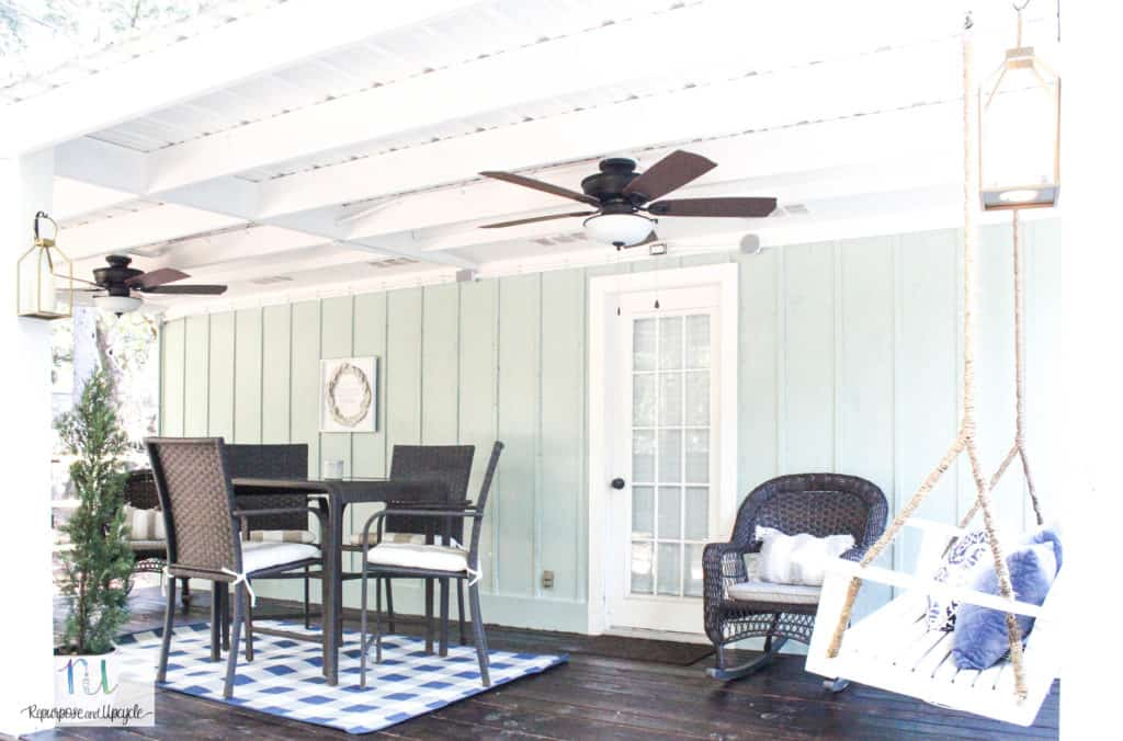 cottage style porch makeover