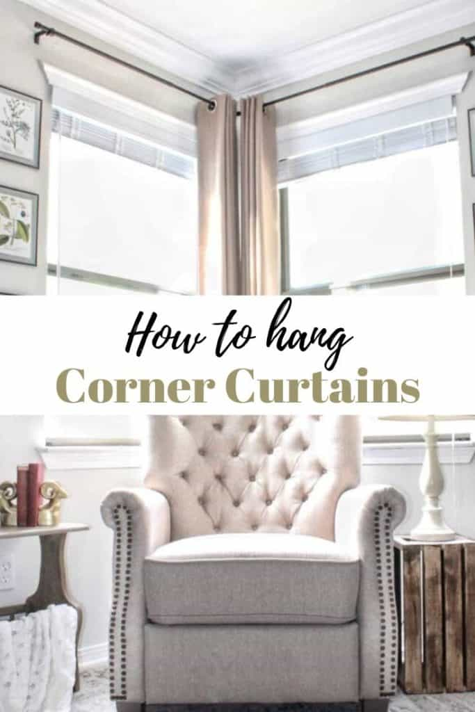 How to hang corner curtains
