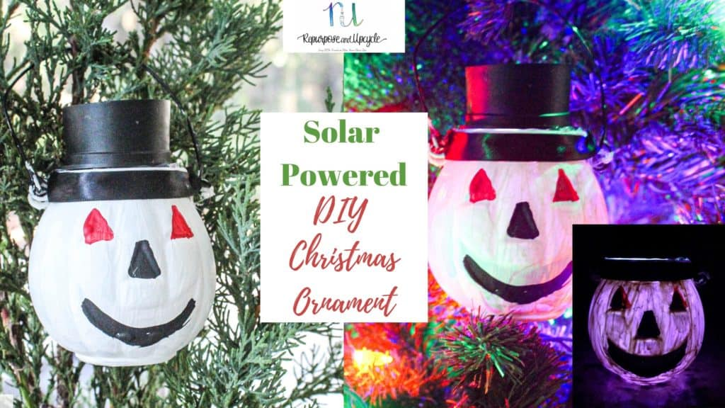 Solar Powered Diy Christmas Ornament With Dollar Store Supplies