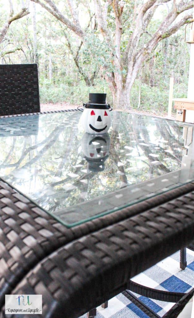 Solar Powered DIY Christmas Ornament outside
