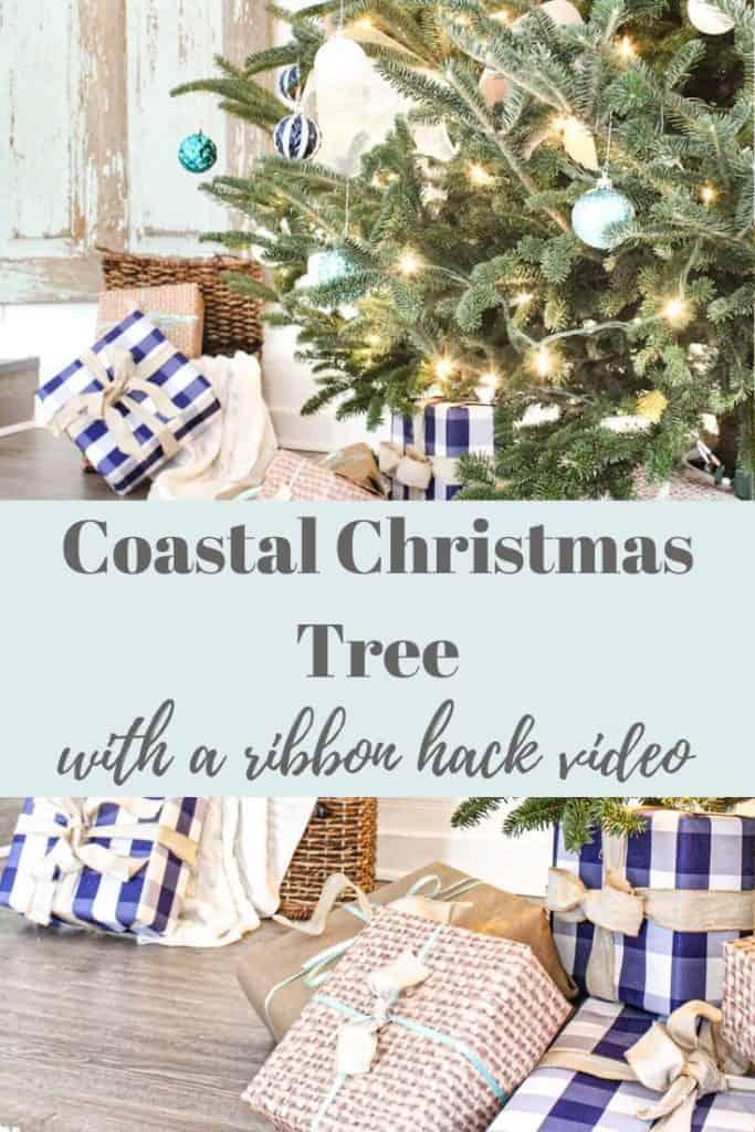 Coastal Christmas Tree theme  with ribbon trick