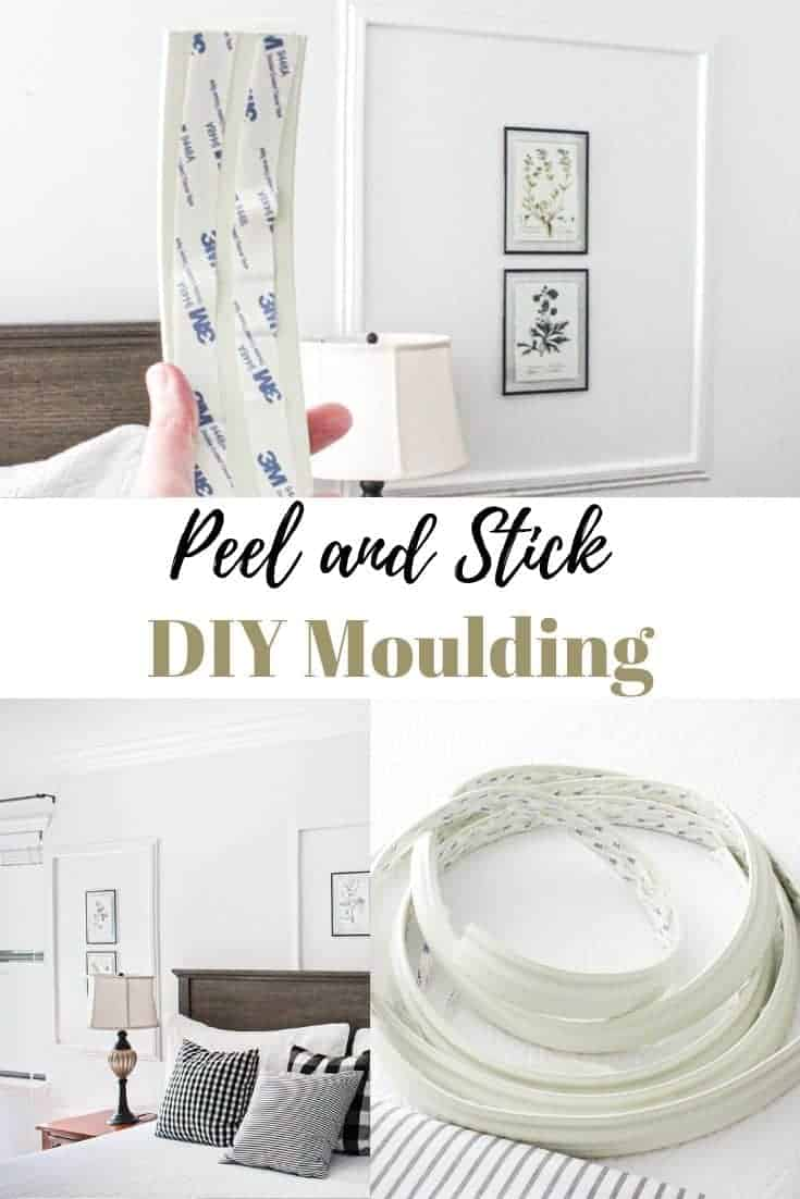 diy peel and stick picture moulding