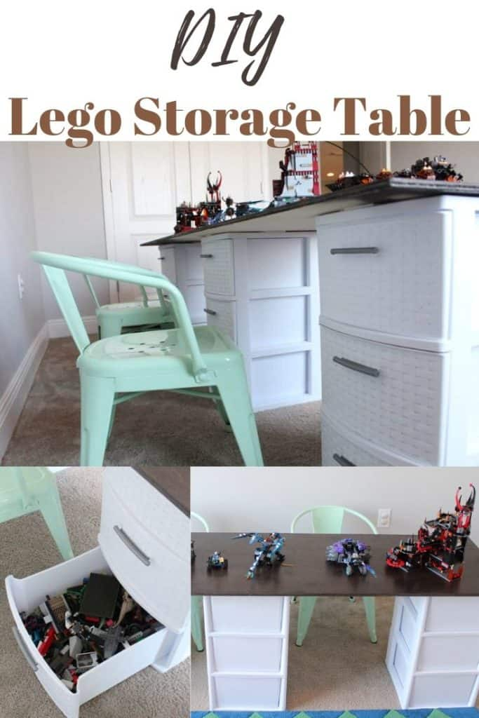 DIY lego table or small toy storage table