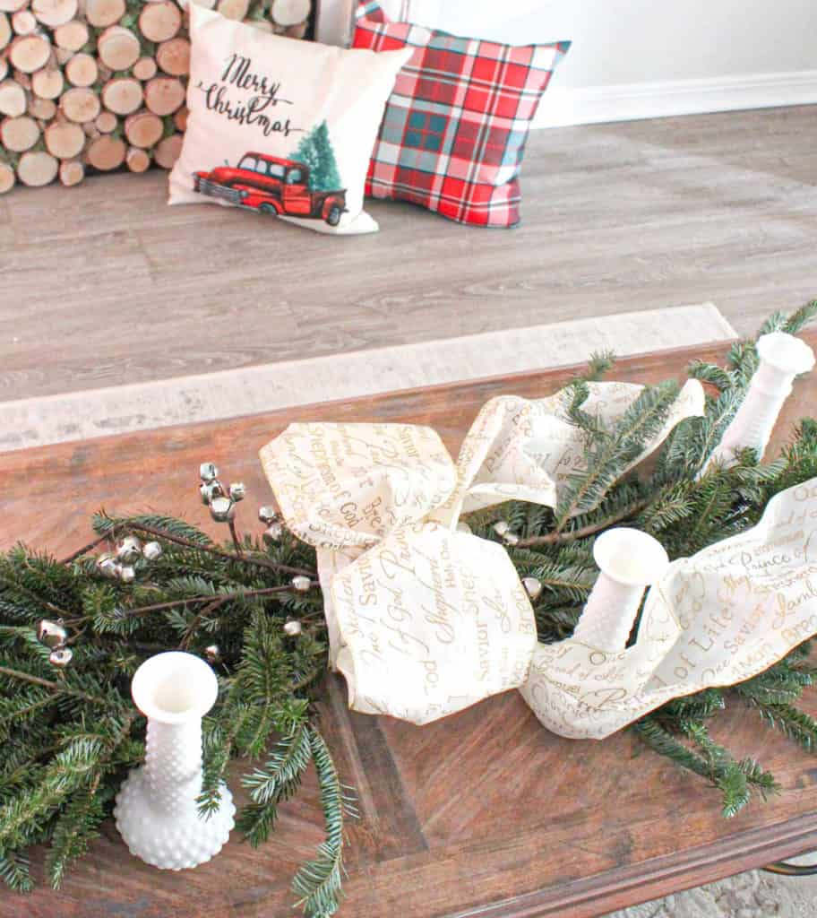 DIY Holiday swag garland