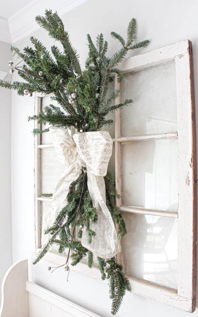 DIY Holiday Christmas swag wreath