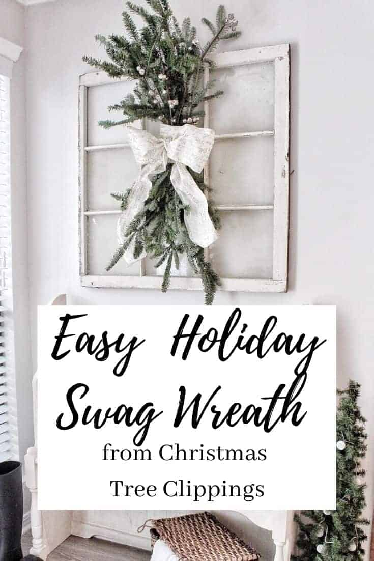 DIY easy holiday swag wreath