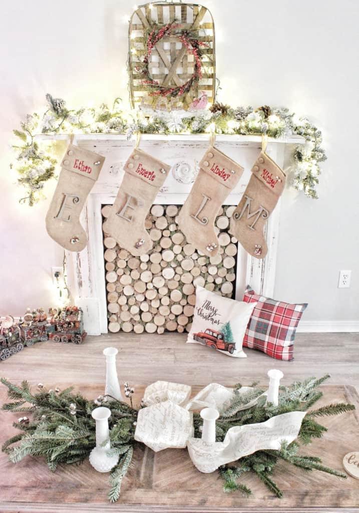 DIY Holiday swag wreath