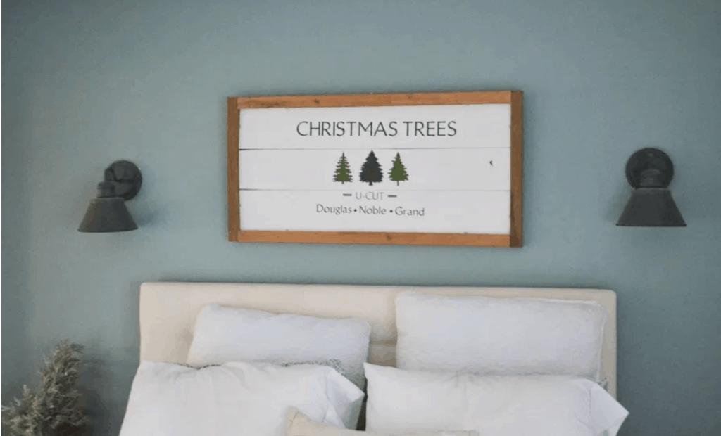 DIY Holiday Wood Sign