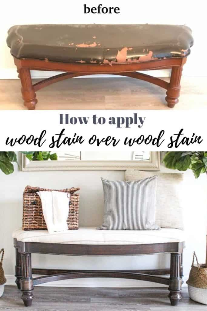 how to apply stain over stain