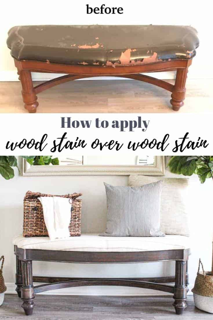 how to apply wood stain over wood stain