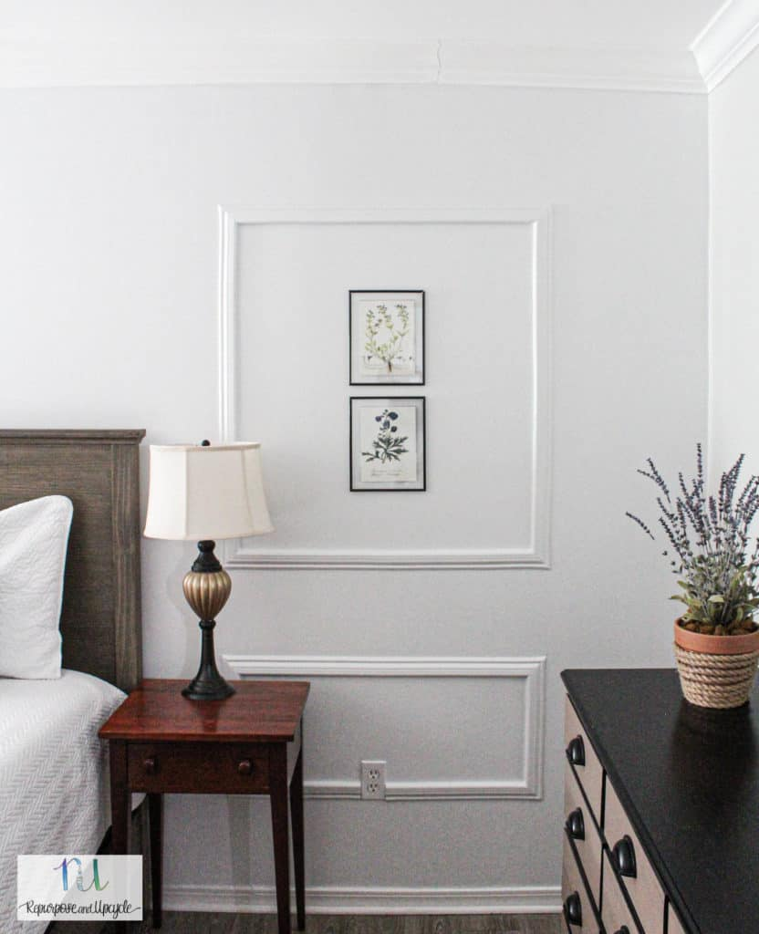 DIY Peel and stick picture frame moulding