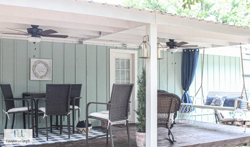 Hanging Curtains Outdoors without Drilling holes and with Indoor Curtains
