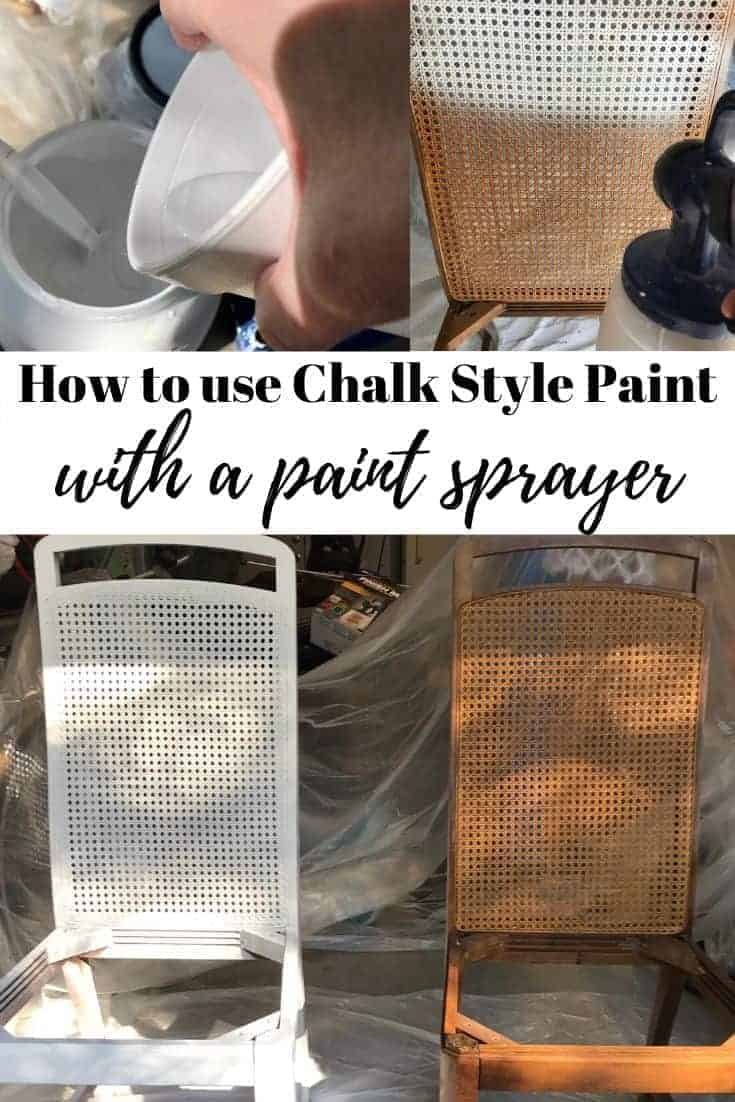 how to use chalk paint in paint sprayer