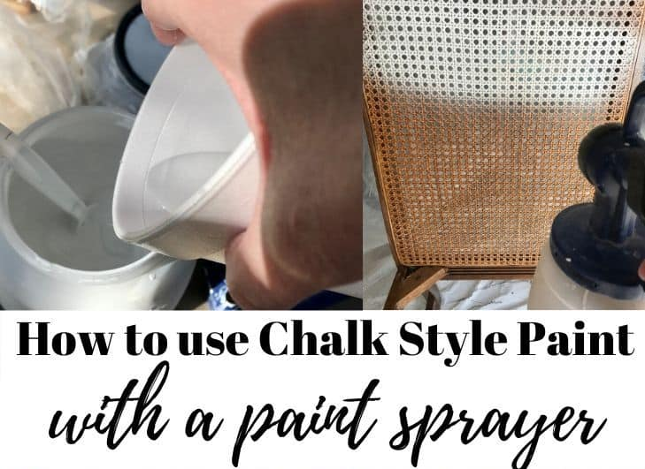 How to Use Chalk Style Paint with a Paint Sprayer