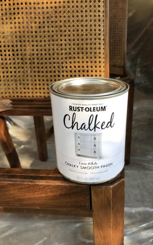 chalk paint for cane back chairs