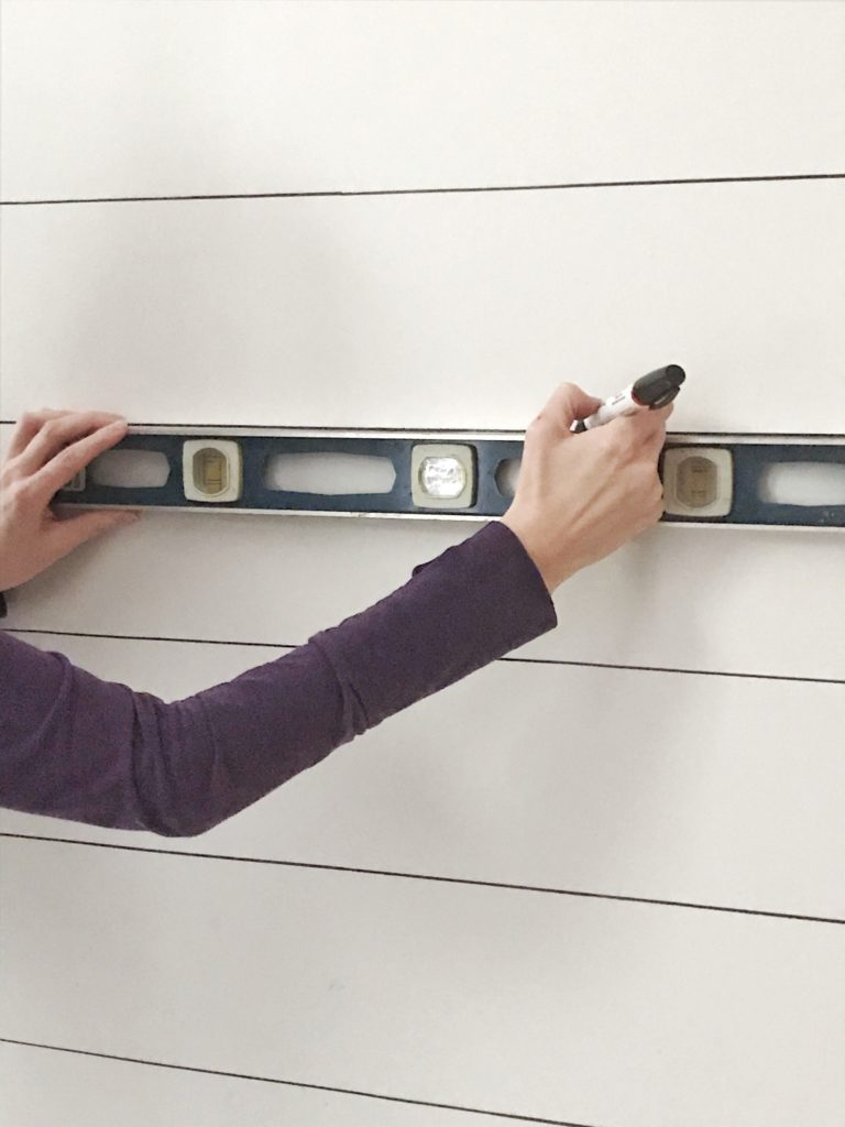 drawing sharpie shiplap with ruler
