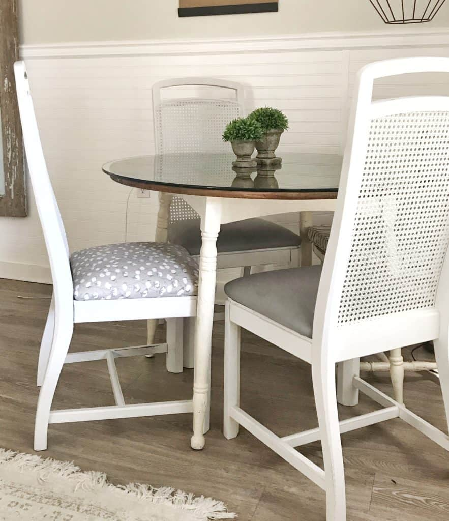Best Way to Paint Cane Back Dining Chairs