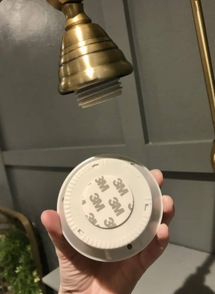 attaching puck light to wall sconce