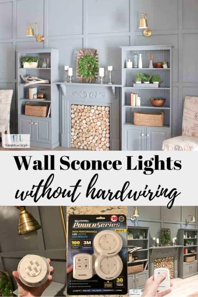 Wall Sconce Lights with Power from a Puck Light
