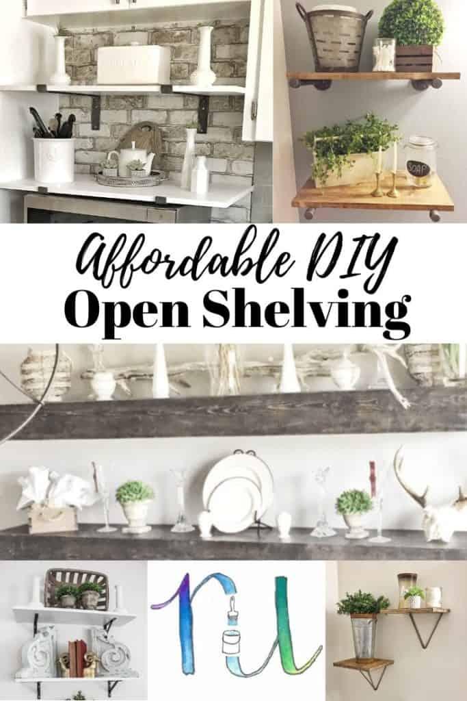 affordable DIY open shelving ideas