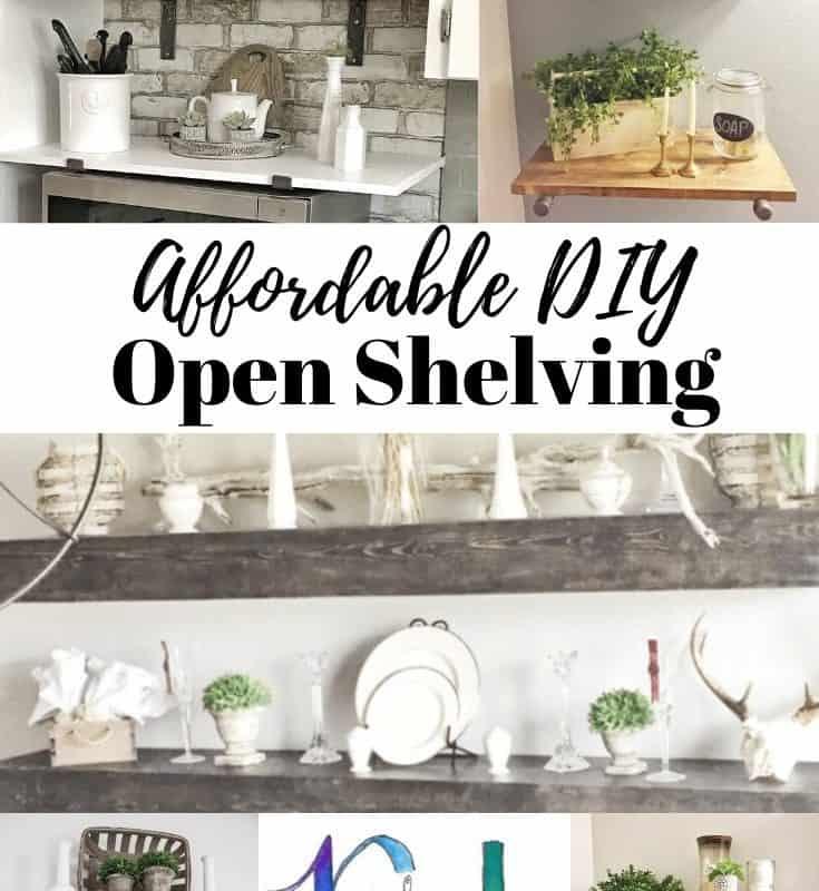 affordable DIY open shelving