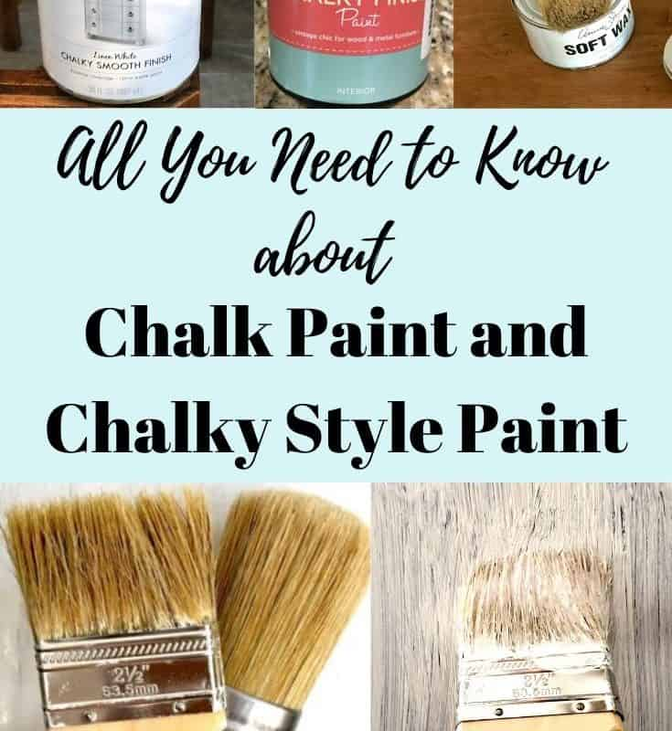 all you need to know about chalk paint and chalky style paint