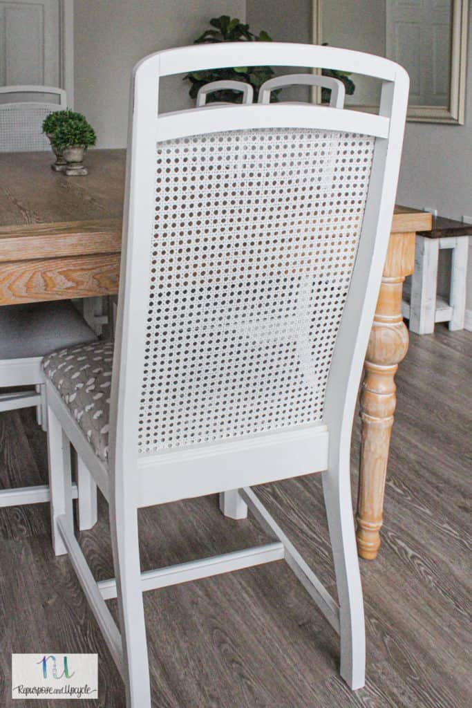how to paint cane back chairs