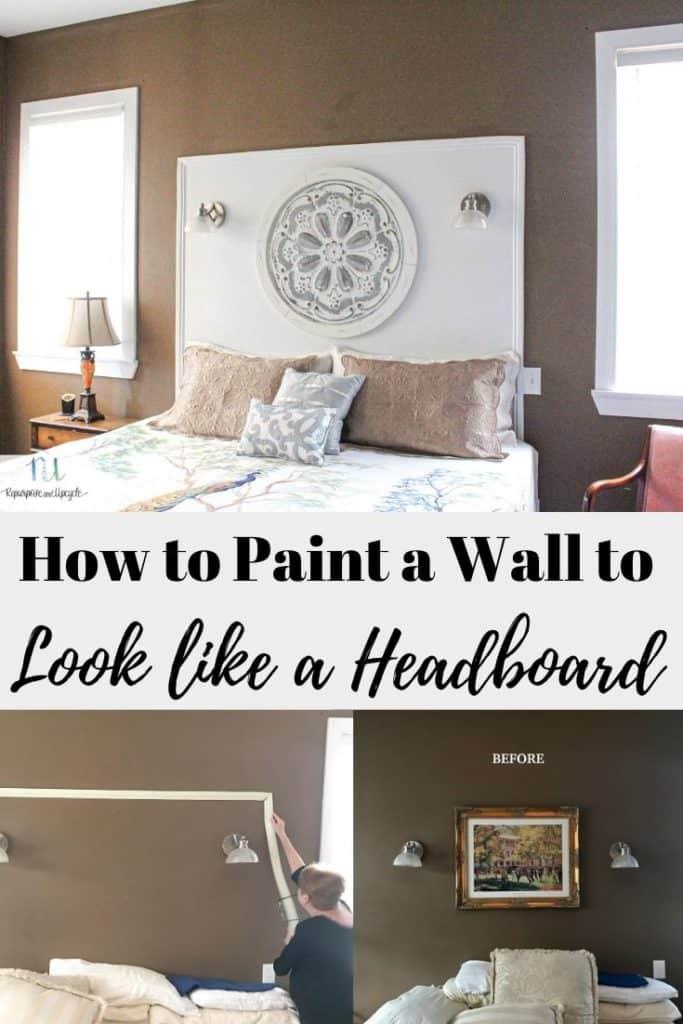 how to paint a wall like a headboard