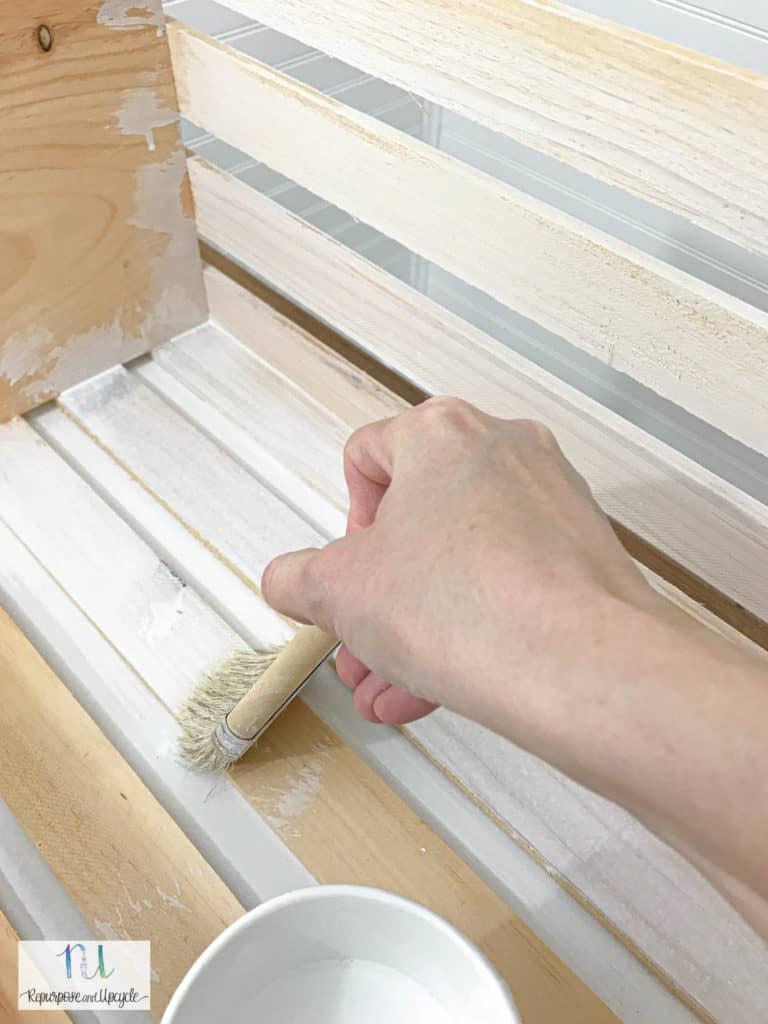 whitewashing bare wood