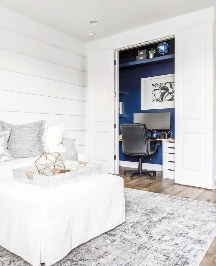 Turn a closet into a small home office