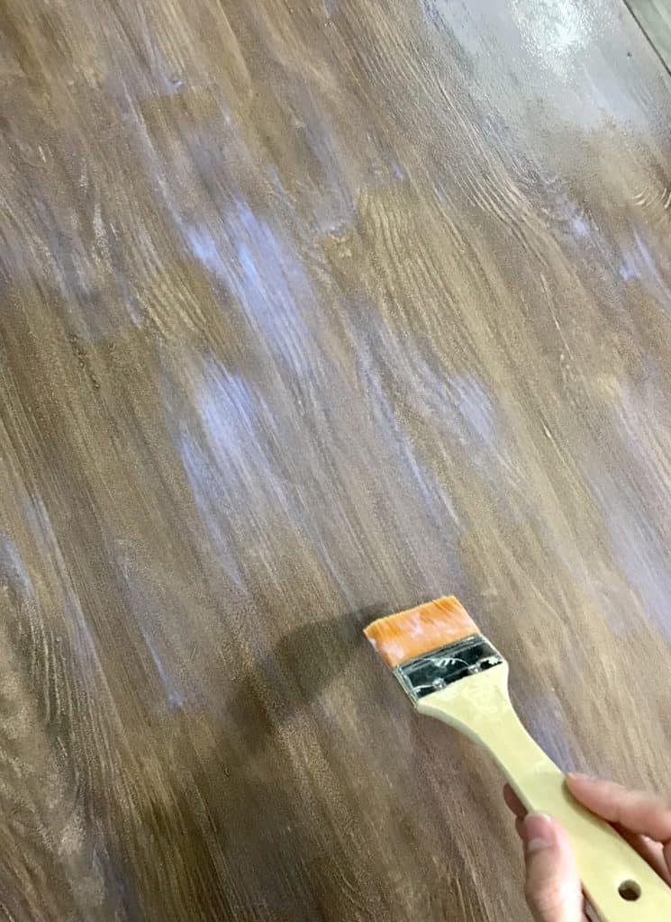 adding polyurethane to the Retique It Liquid Wood