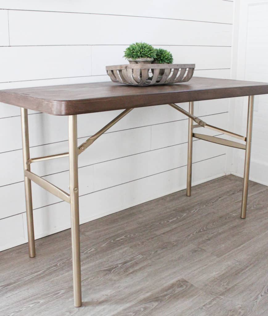 How To Use Retique It Liquid Wood With A Folding Table Makeover