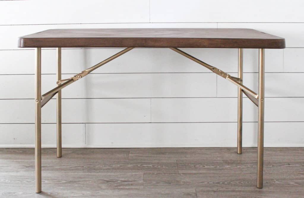 Retique It Liquid Wood with a Folding Table Makeover