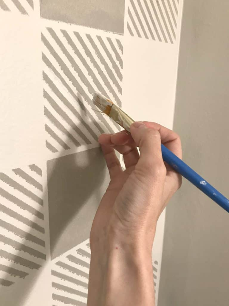 stenciling a wall without bleeding