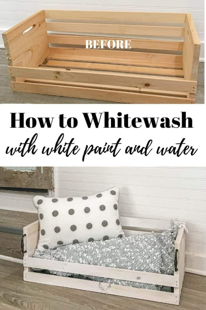 how to whitewash wood with white paint and water