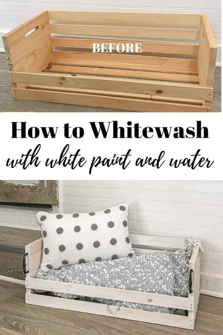 How to Whitewash Bare wood