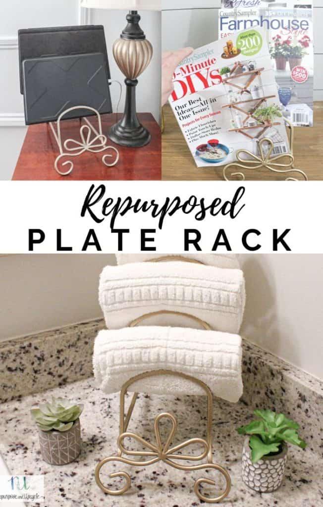 repurposed plate rack three ways