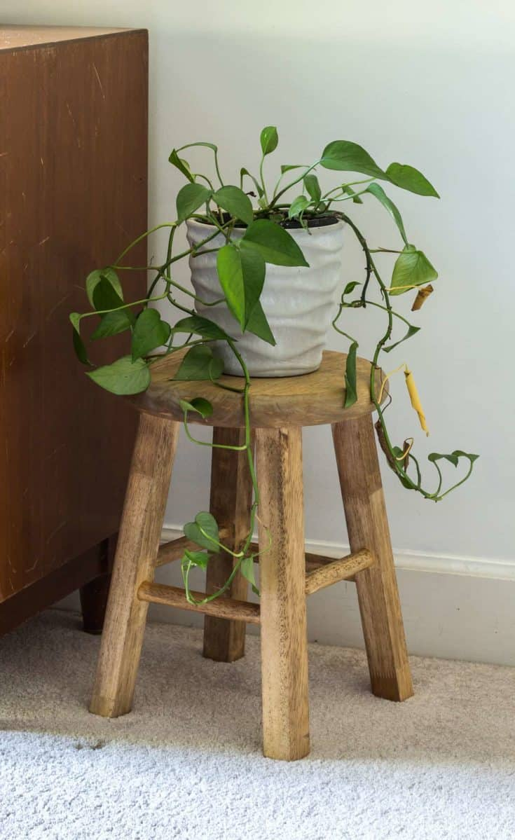 How to Make a Small DIY Wood Stool from a Bar Stool