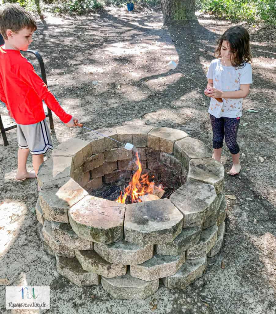 concrete paver fire pit