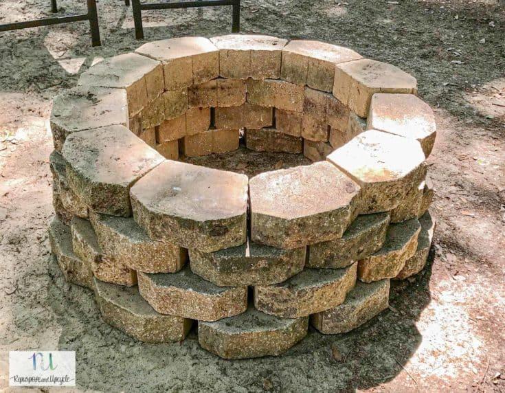 How to Build a Concrete Paver Fire Pit