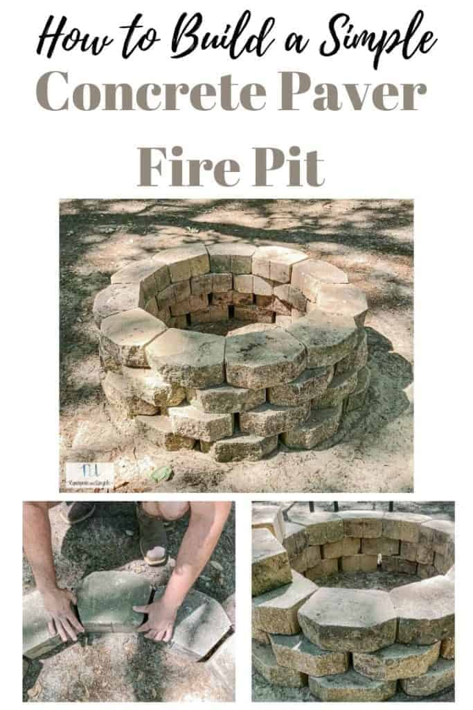 how to build a simple concrete paver fire pit