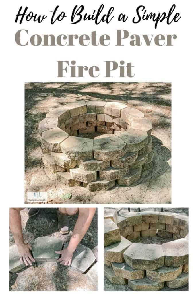 how to build a simple concrete paver fire pit