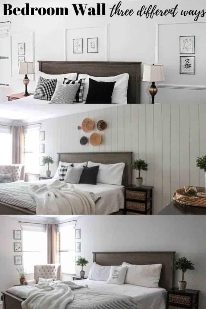 bedroom wall three different ways