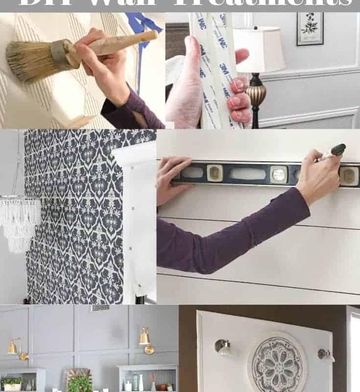 renter friendly DIY wall treatments