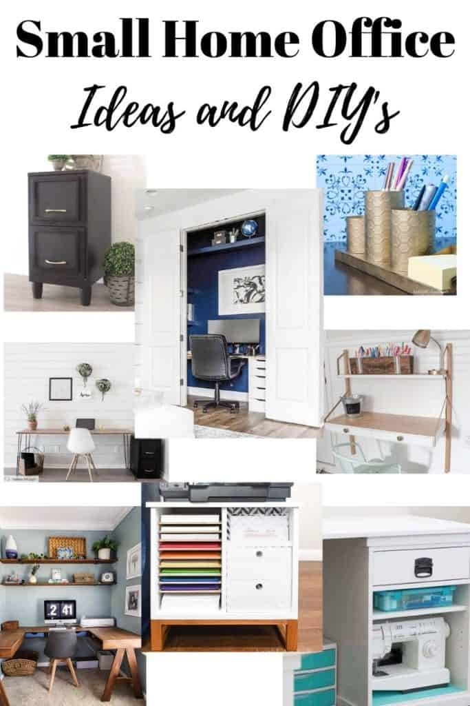 small home office ideas and DIY's